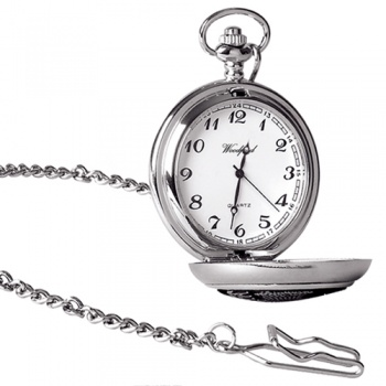 Archibald Knox Style Pewter Quartz Pocket Watch Can Be